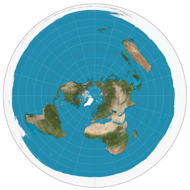 地球平面地図