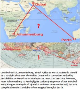 フラットアース地図.航路